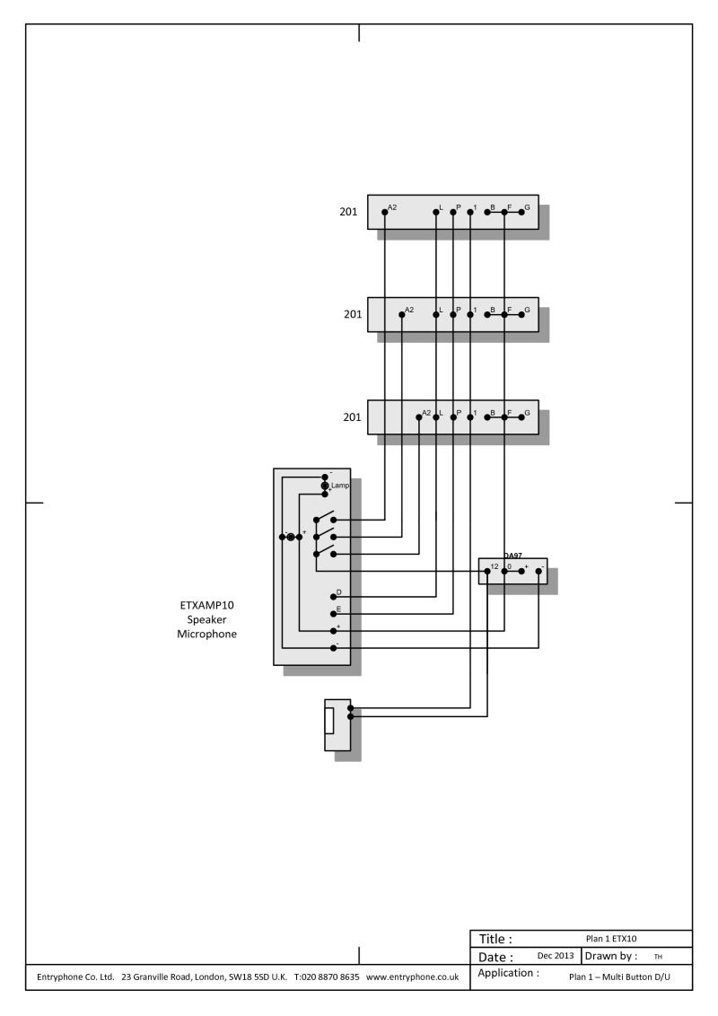 entryphone wiring diagrams entryphone etaxmp10 wiring diagram