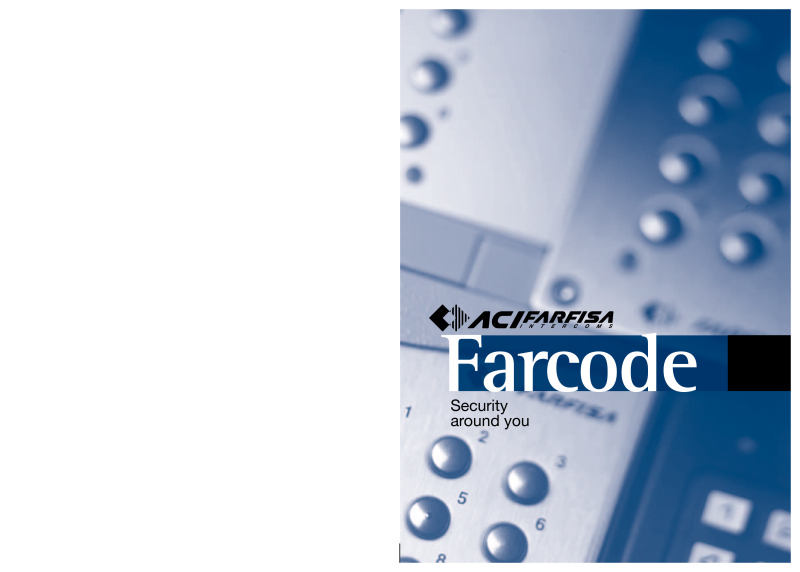 Farfisa brochure for Farcode entry panels
