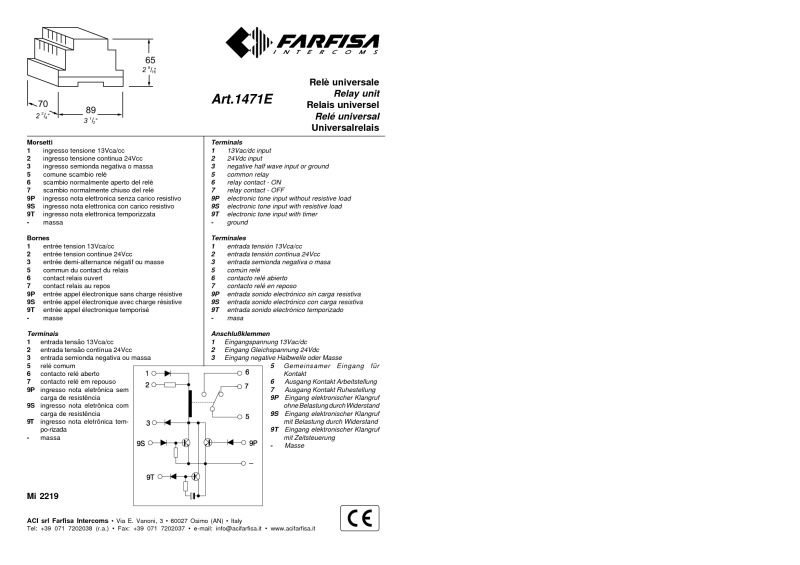 Mi2219 farfisa wiring diagrams farfisa door entry wiring diagrams at fashall.co
