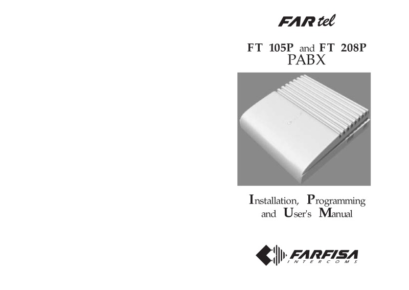 Farfisa FT105P PABX Installation Manual