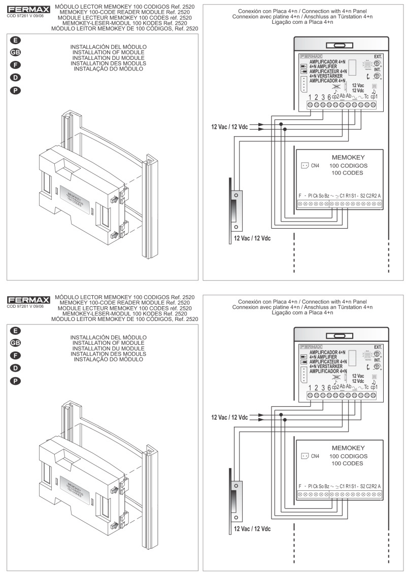 Fermax Intercom Wiring Diagram Great Engine Schematic Pacific System Installation Instructions Rh Doorentrydirect Com Systems