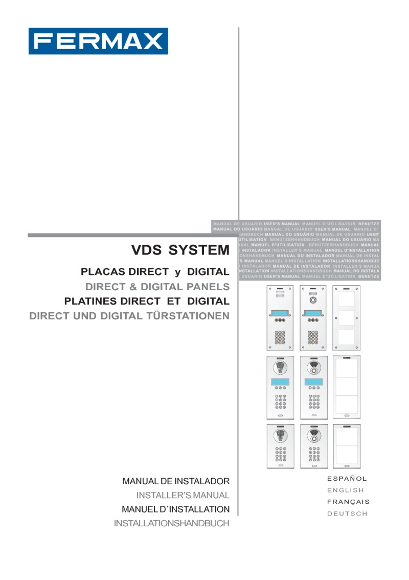 Fermax installation instructions fermax installer manual for city vds digital panel art 7299 publicscrutiny Choice Image