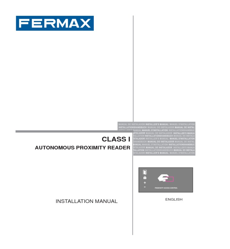 Fermax installation instructions fermax installation manual for city panel with proximity reader art 7 publicscrutiny Choice Image