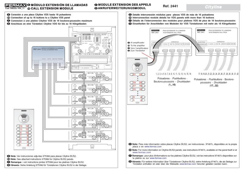 Fermax F 2441 16 Call Extension Module