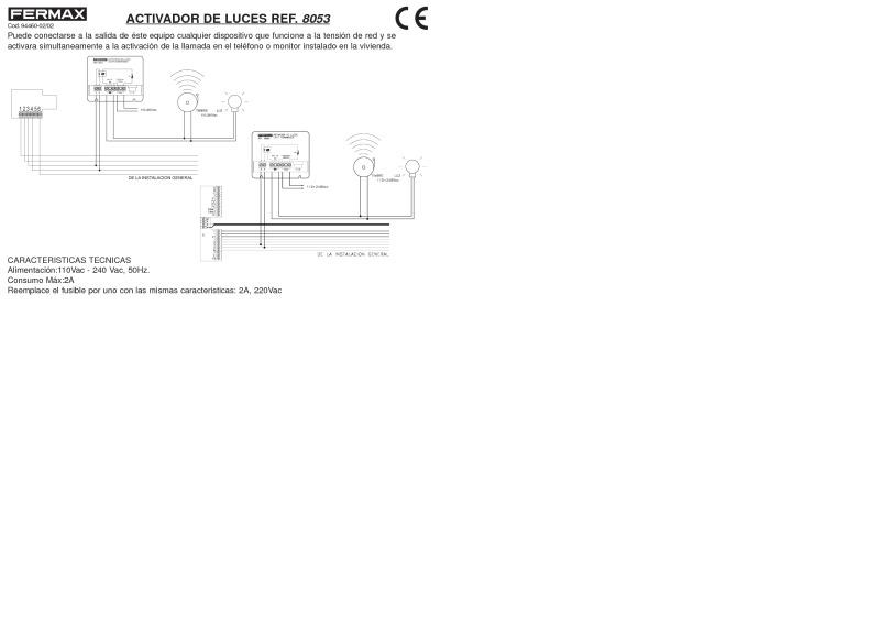 Activador luces Fermax 8053