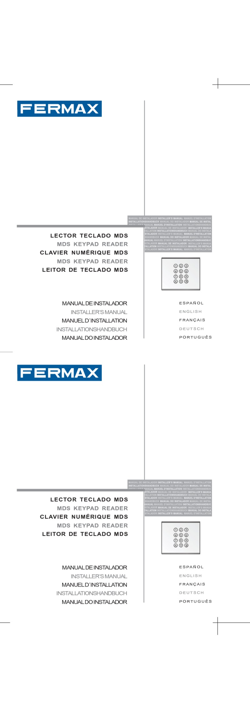 Fermax installation instructions fermax instruction for city mdsac keypad art 6994 publicscrutiny Choice Image
