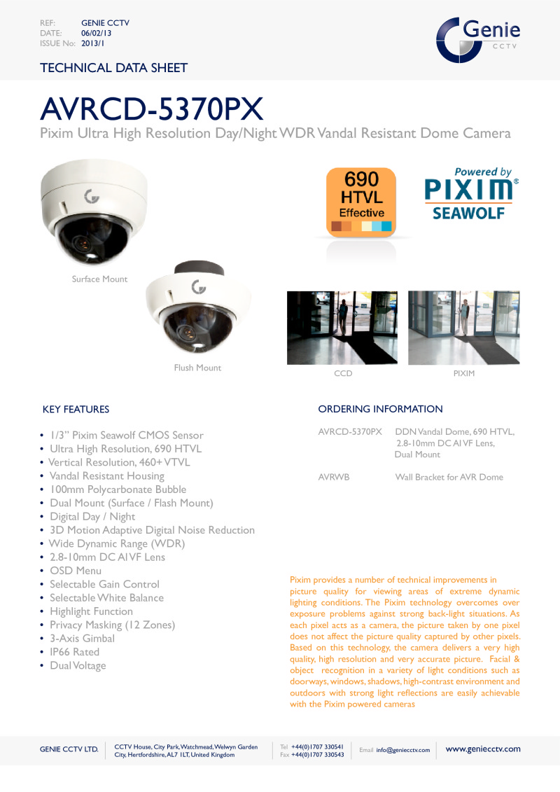 True Day/Night Camera Datasheet