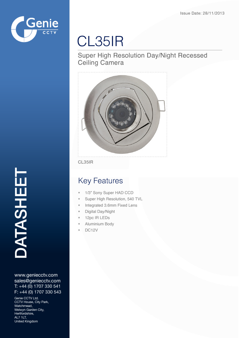 CL35IR Camera Datasheet