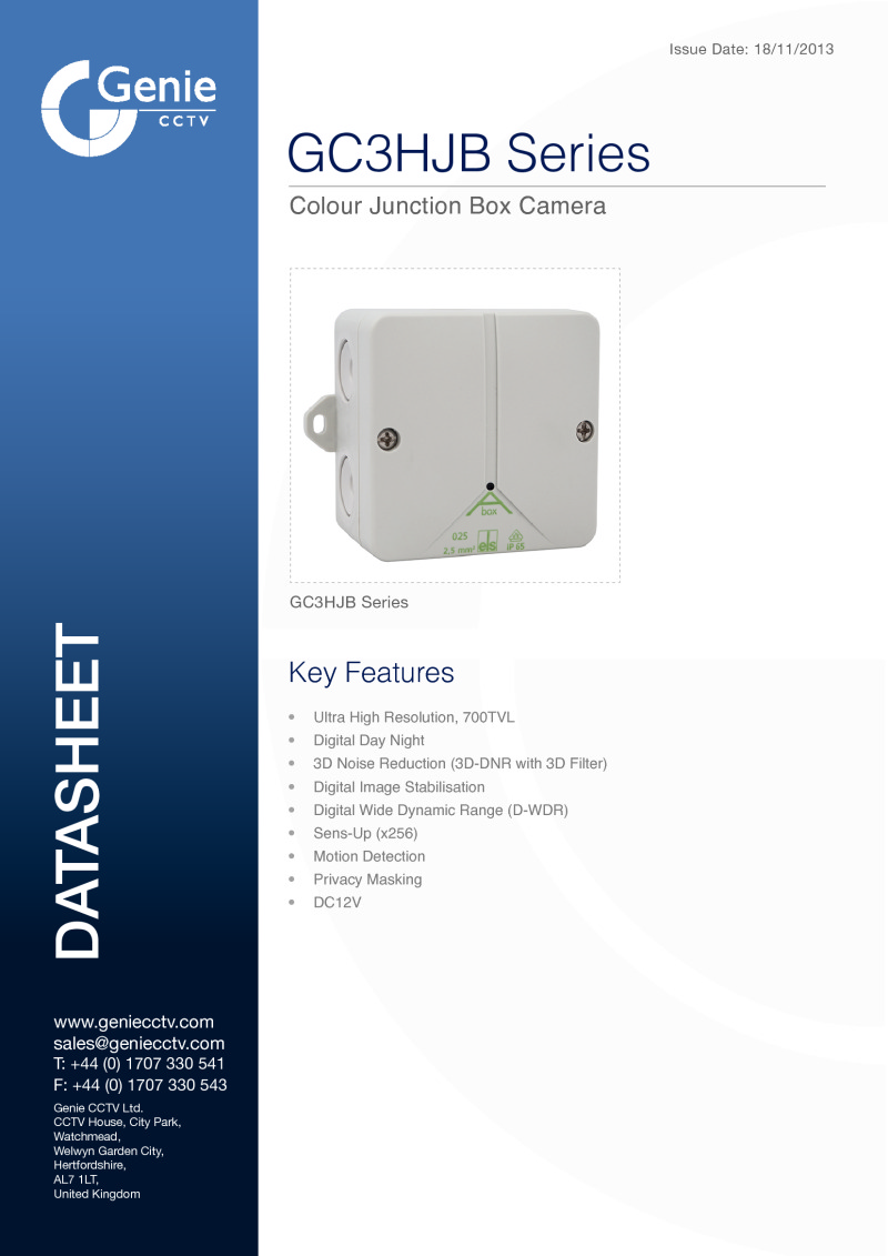 GC3HJB Series Camera Datasheet