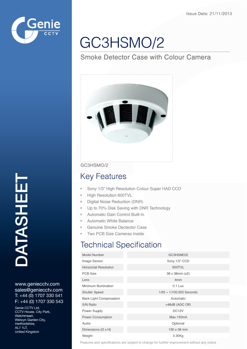 GC3HSMO/2 Camera Datasheet