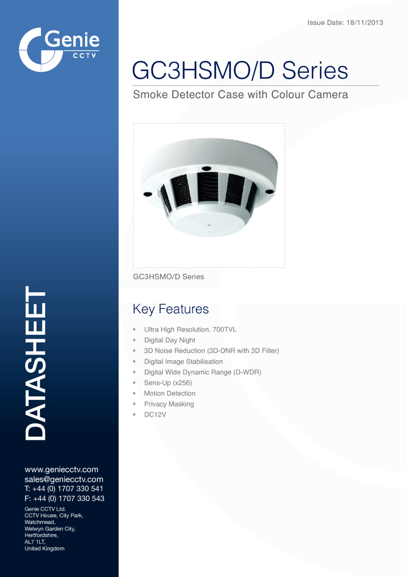 GC3HSMO/D Camera Datasheet