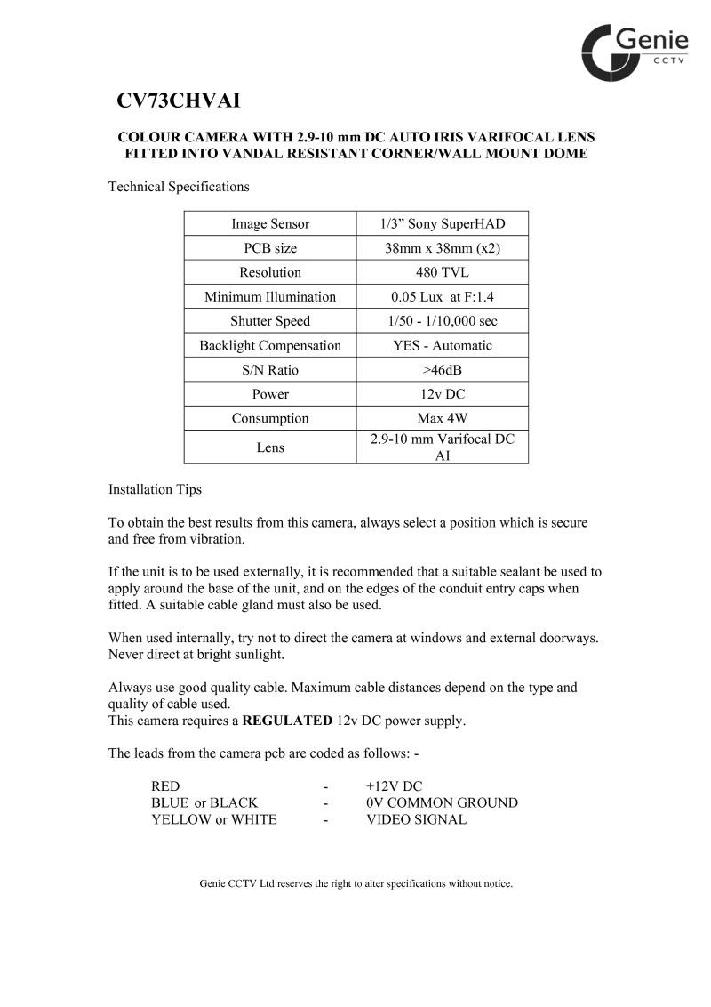 Index Of Acrobat Genie Manual Cctv Wiring Diagram Pdf Cv73chvai Manualpdf