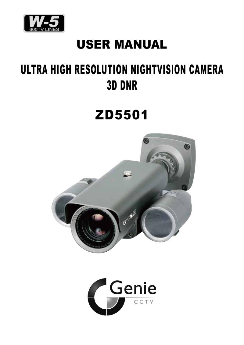 ULTRA HIGH RESOLUTION NIGHTVISION CAMERA 3D DNR ZD5501