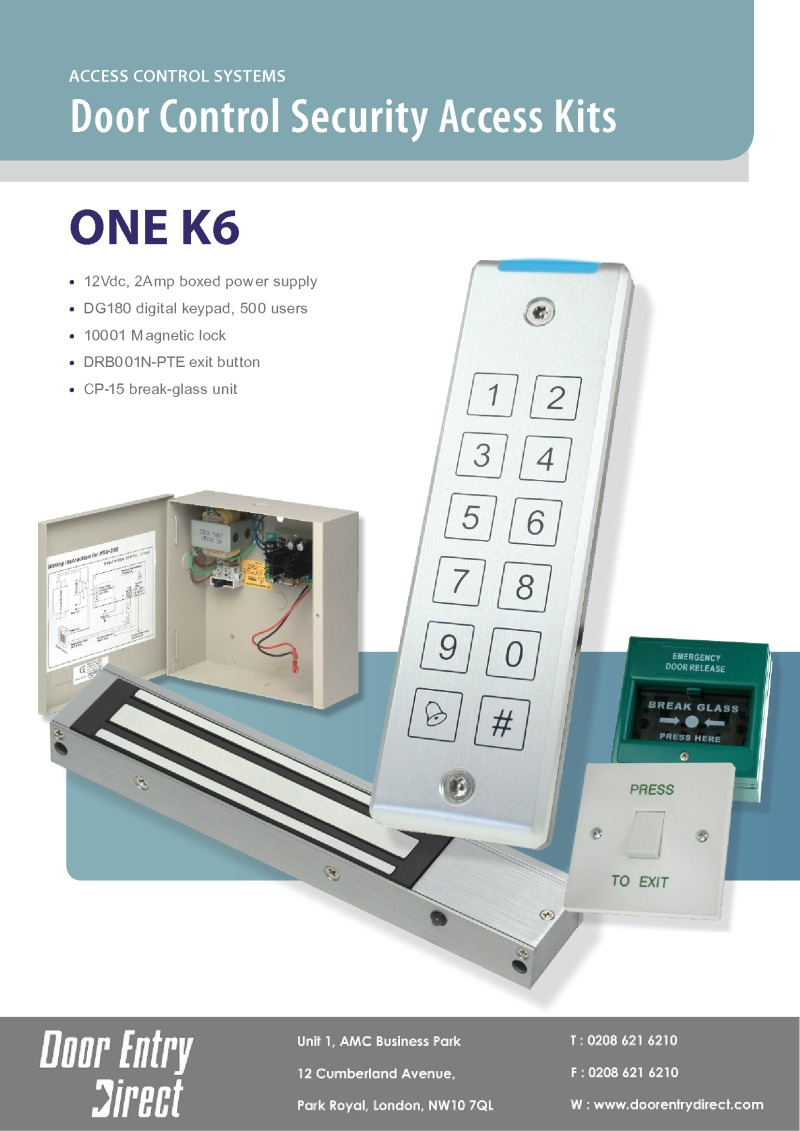 Gianni Gem ONE K6 - Access Control Kit DG180 Keypad