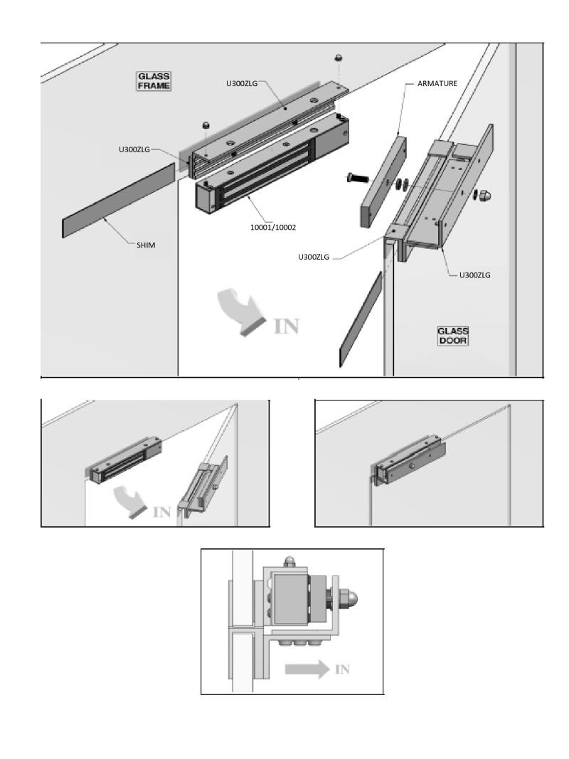 The Srs U300zlg Z Amp L Bracket For Mini Maglock W Glass