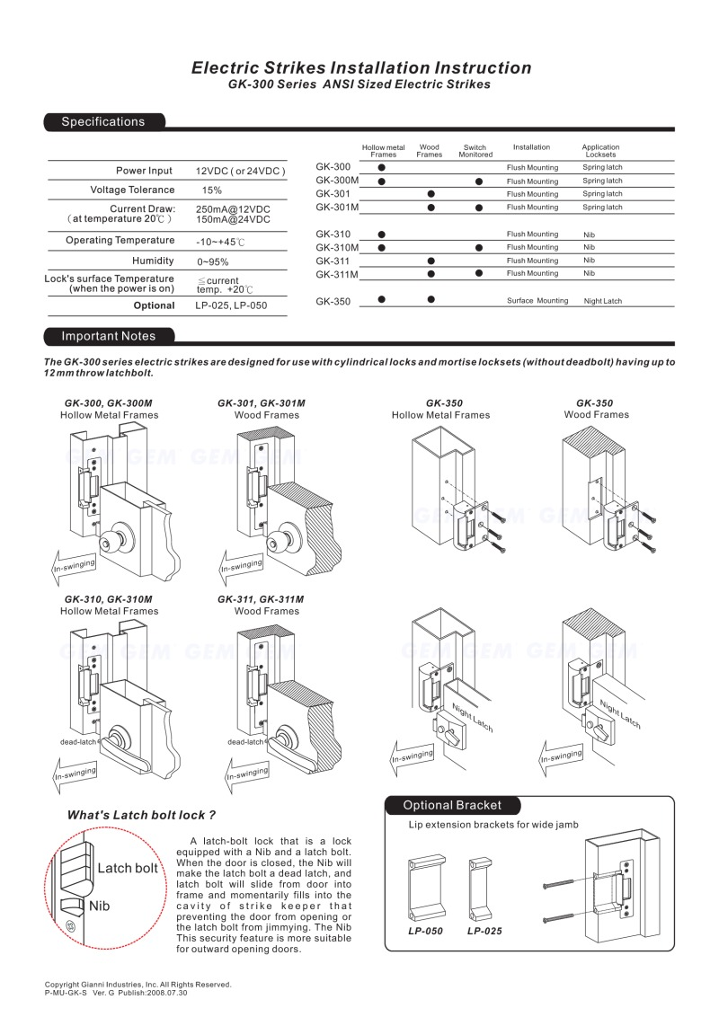 electric strike lock wiring diagram free picture electric strikes installation instruction  electric strikes installation instruction