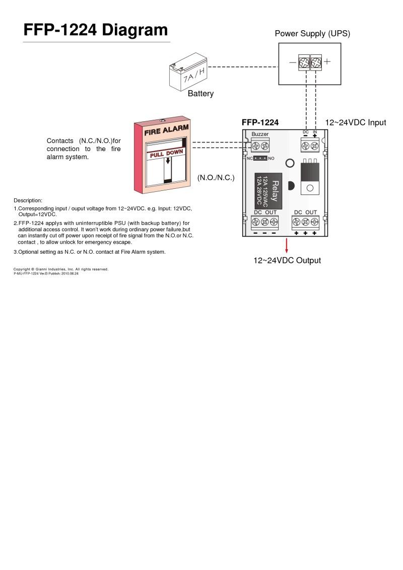 Gianni Gem Installation Instructions 24vdc Buzzer Wiring Diagram Ffp 1224
