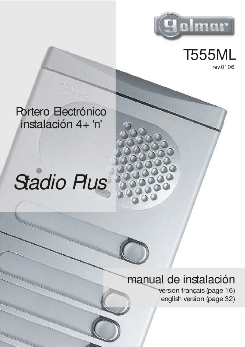 Golmar installation manual