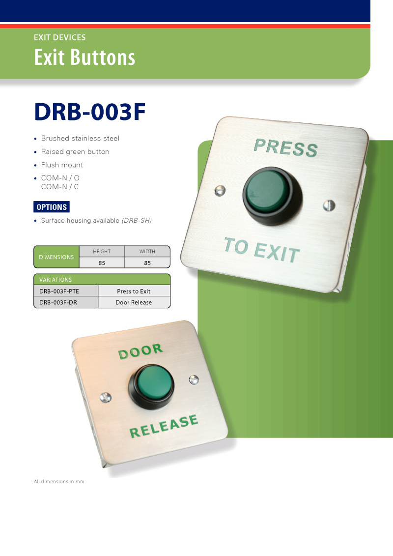 Exit Button - Door Release