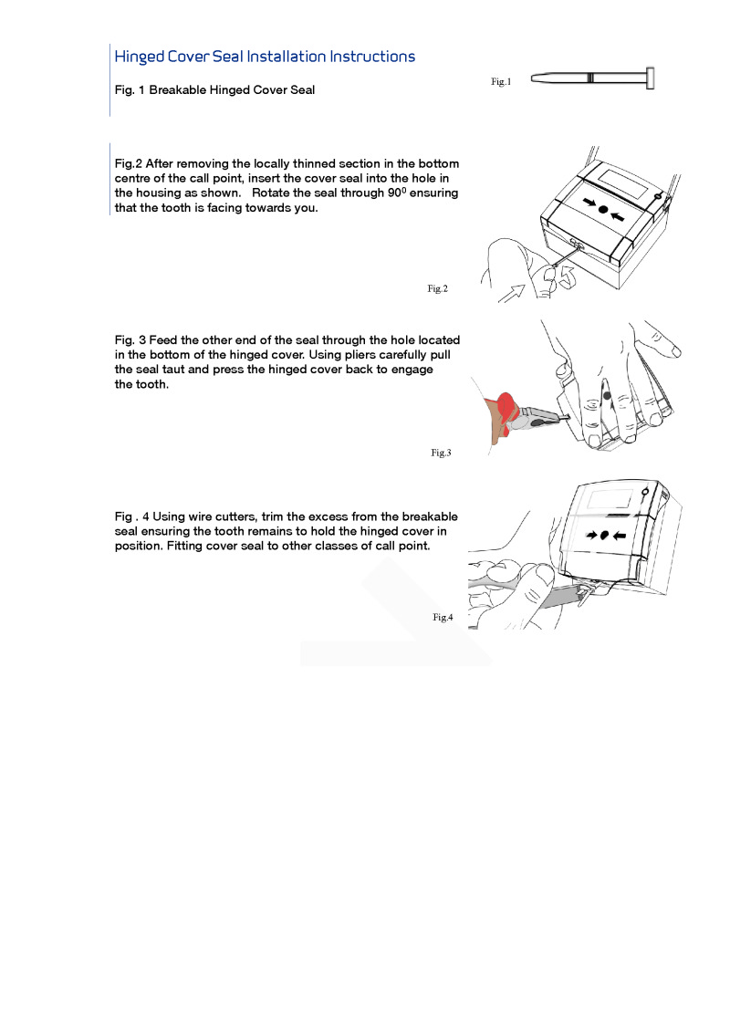 KAC Hinged Cover Seal Installation Instructions