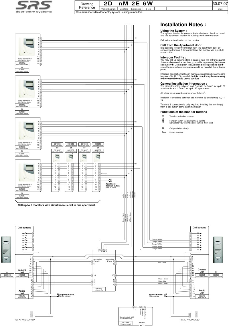 srs intercom wiring diagram   27 wiring diagram images