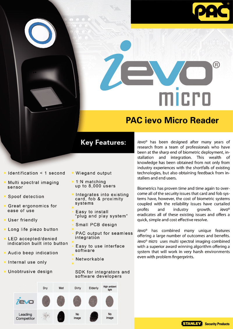 PAC ieveo Micro Reader