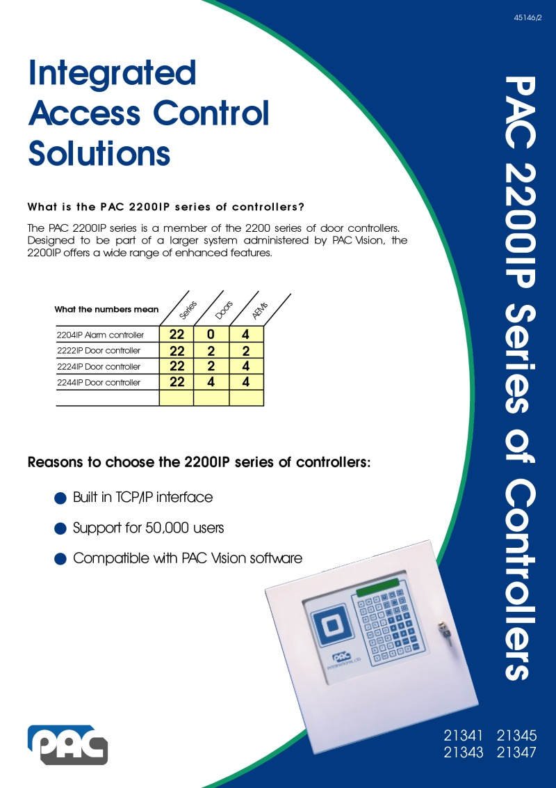 PAC 2200IP series brochure