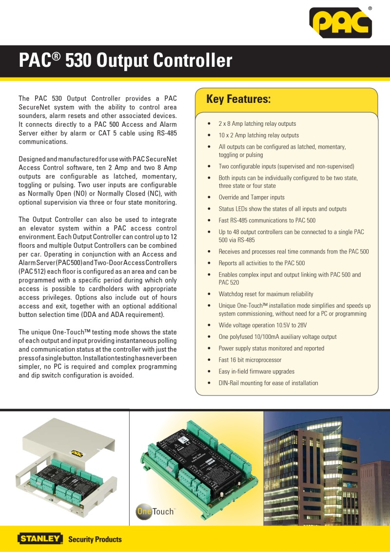 PAC 530 Output Controller brochure