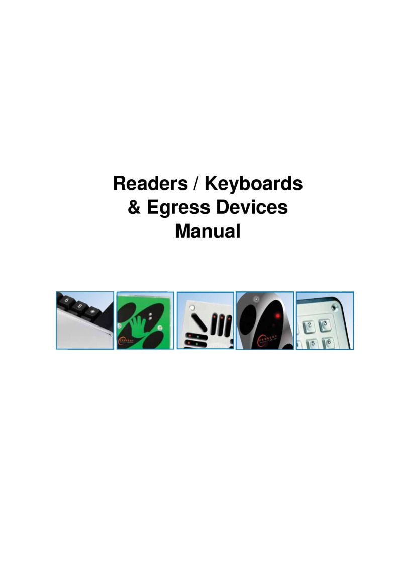 Progeny Readers, Keypad, and Switches Manual