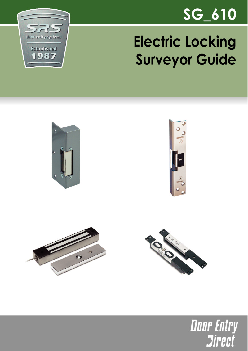 SRS - Surveyors Guide to selecting the correct locking devices