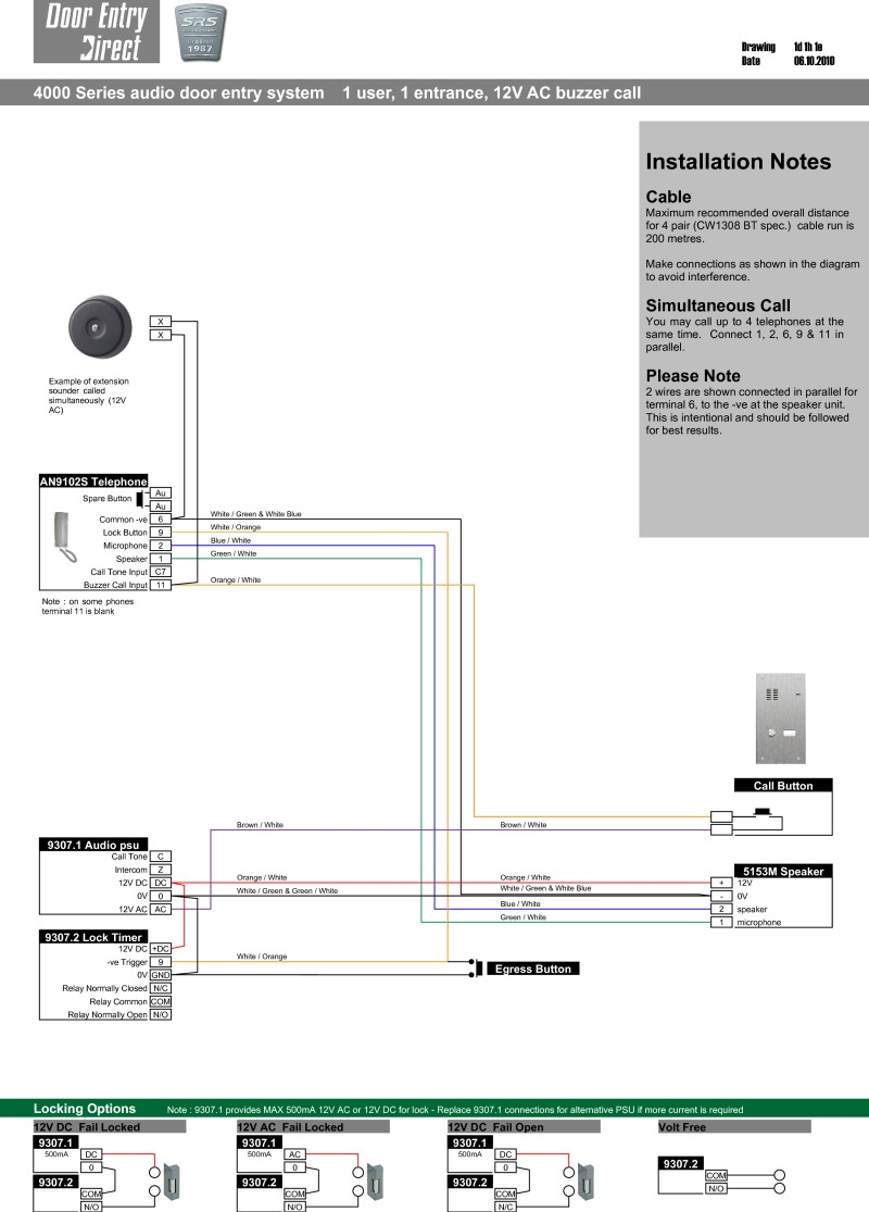 Srs Intercom Wiring Diagram Great Installation Of Nutone Systems Diagrams Rh Doorentrydirect Com Aiphone Pictorial