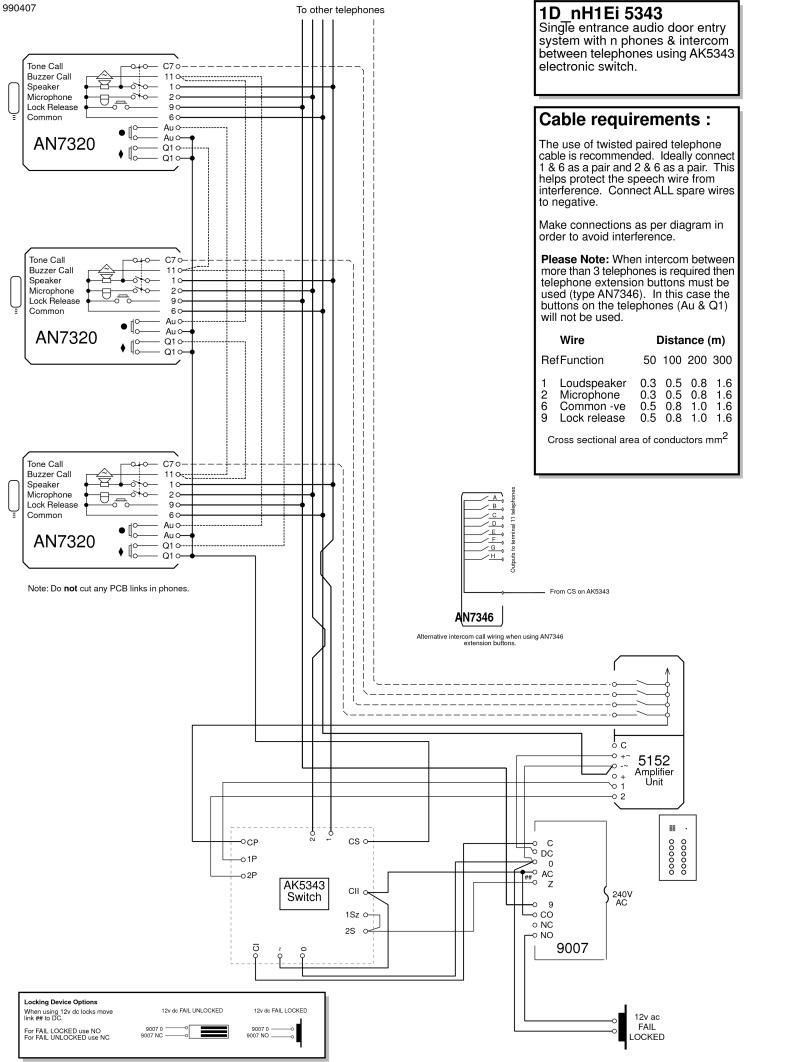 intercom wiring diagram of unit 10