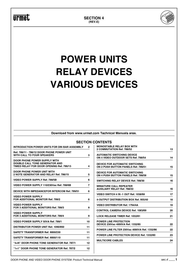 Urmet Installation Instructions Connecting Logisty Daitem Intercoms To Cb1 Control Panel 788 52 Manual