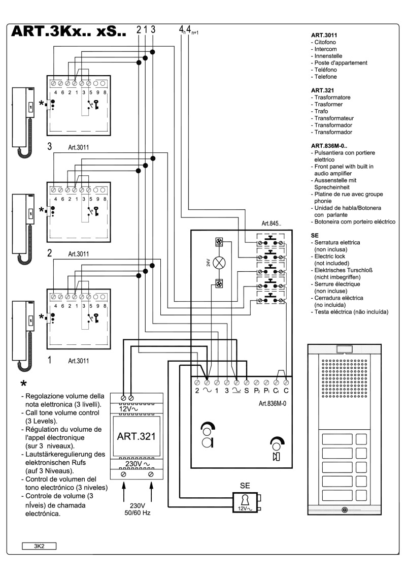 3K4 videx kit wiring diagrams farfisa door entry wiring diagrams at fashall.co