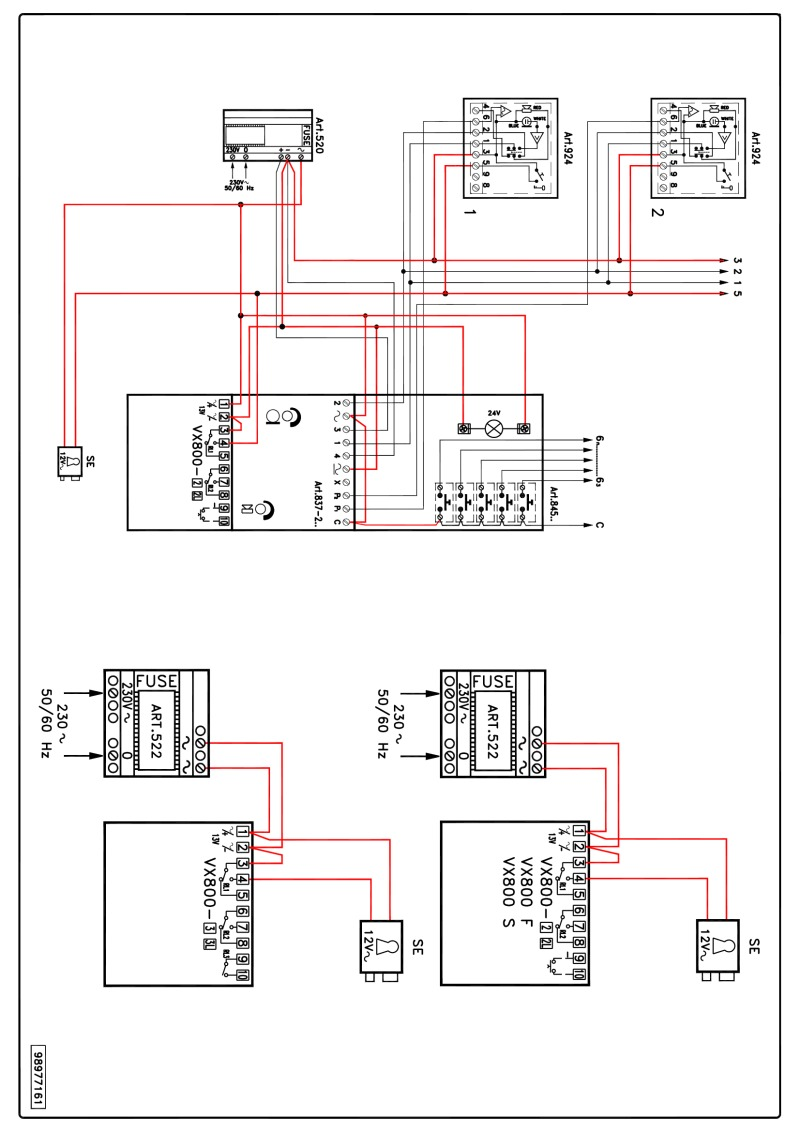 Videx VX 800 wiring diagram
