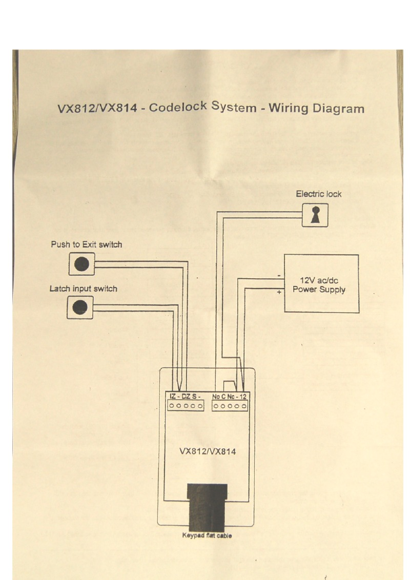Videx VX812 & VX814 Connection Guide