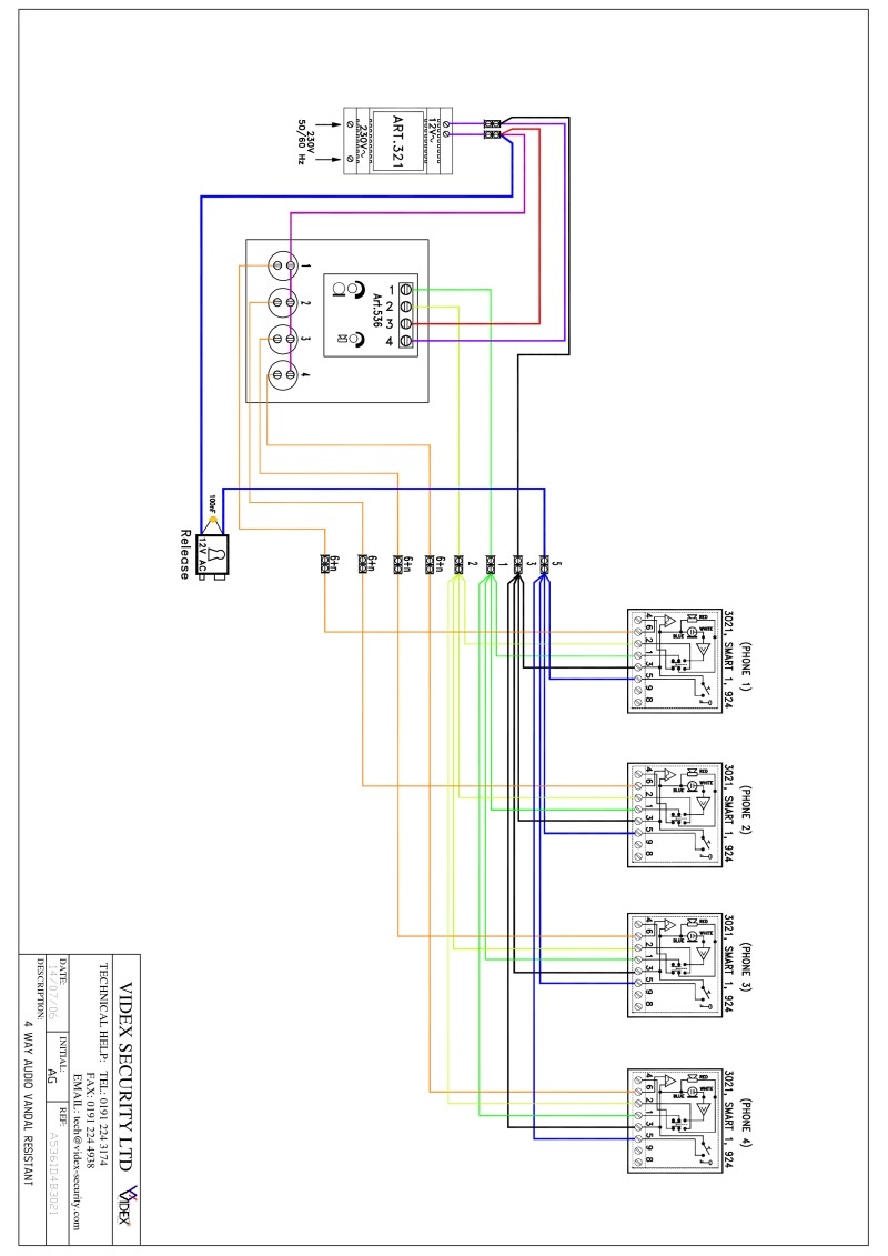 videx miscellaneous wiring diagrams Ladder Diagram videx smart 1 wiring diagram