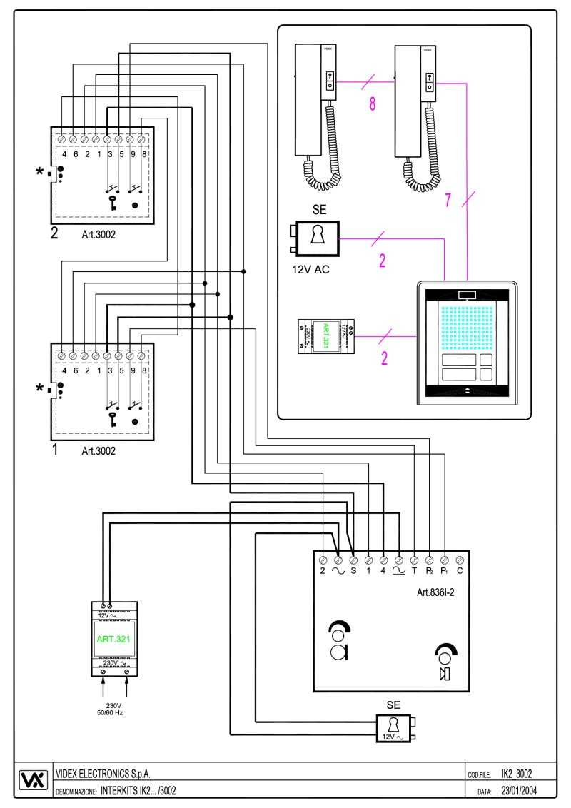 videx miscellaneous wiring diagrams. Black Bedroom Furniture Sets. Home Design Ideas