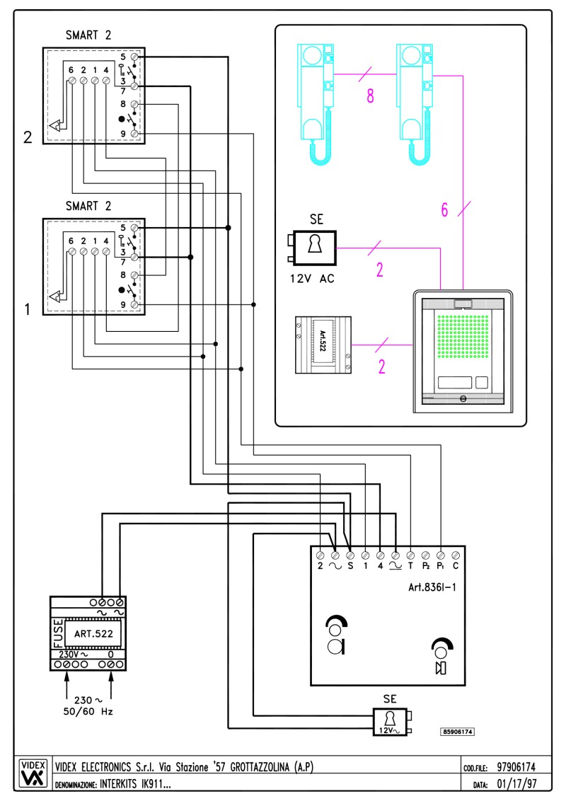 Videx Wiring Instructions Diagram Fuse Box Doorbell Uk Miscellaneous Diagrams Rh Doorentrydirect Com Wired