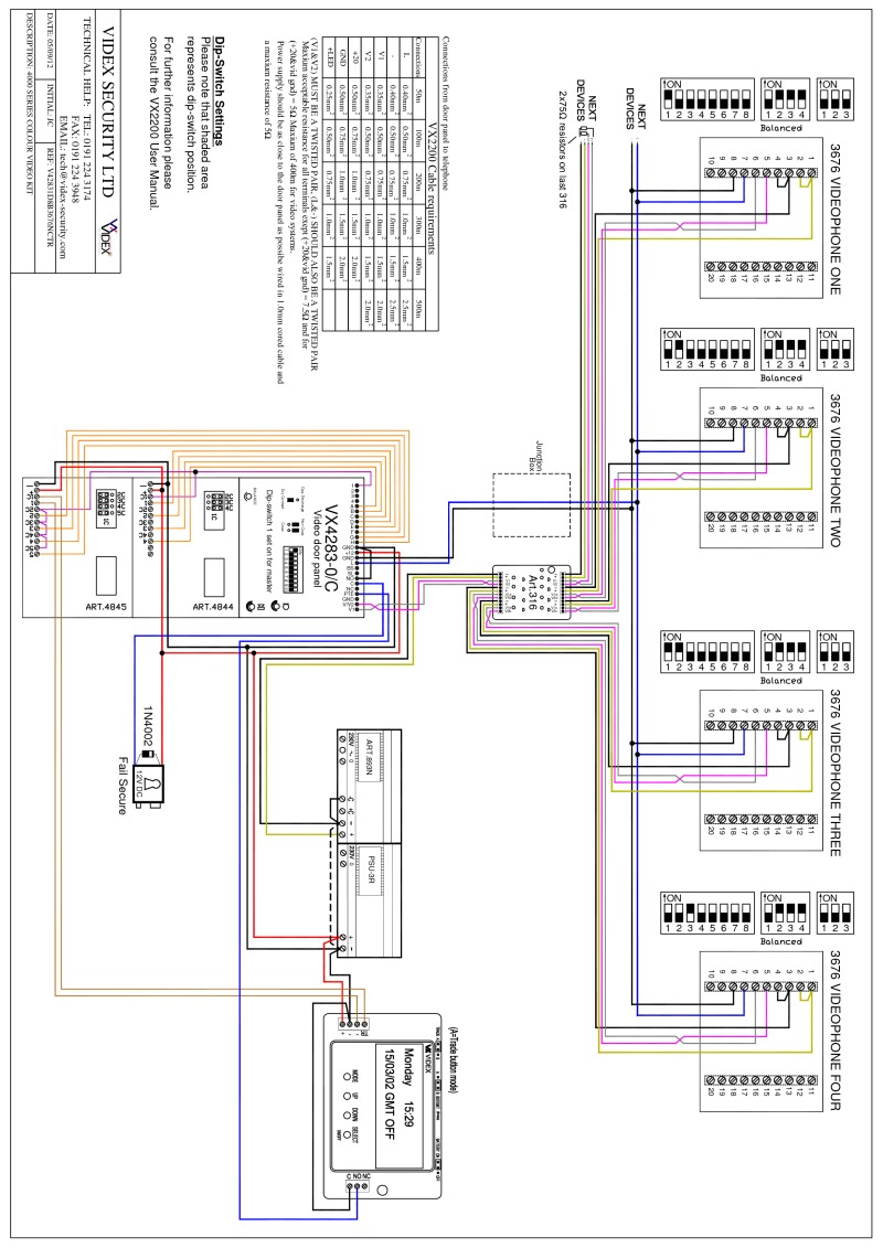 V42831D8B3676NCTR Model videx miscellaneous wiring diagrams videx 4000 series wiring diagram at reclaimingppi.co