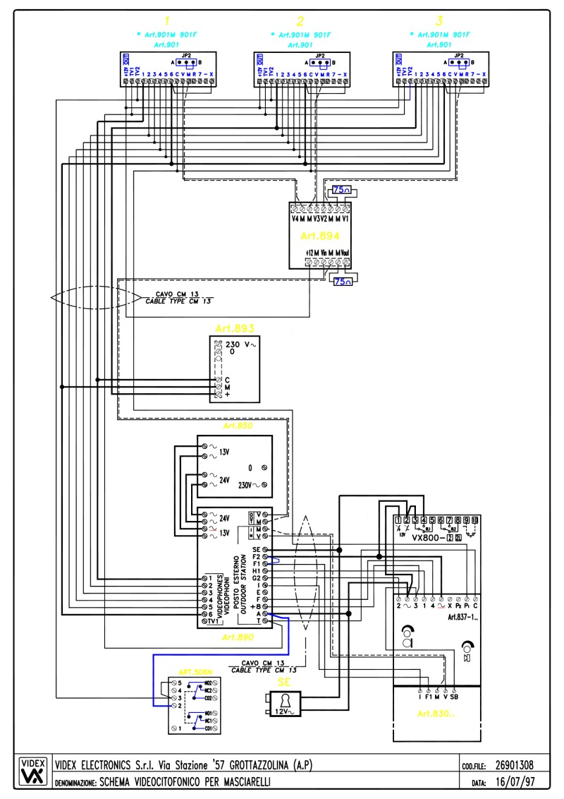 26901308 videx video basic wiring diagrams videx door entry systems wiring diagram at bayanpartner.co