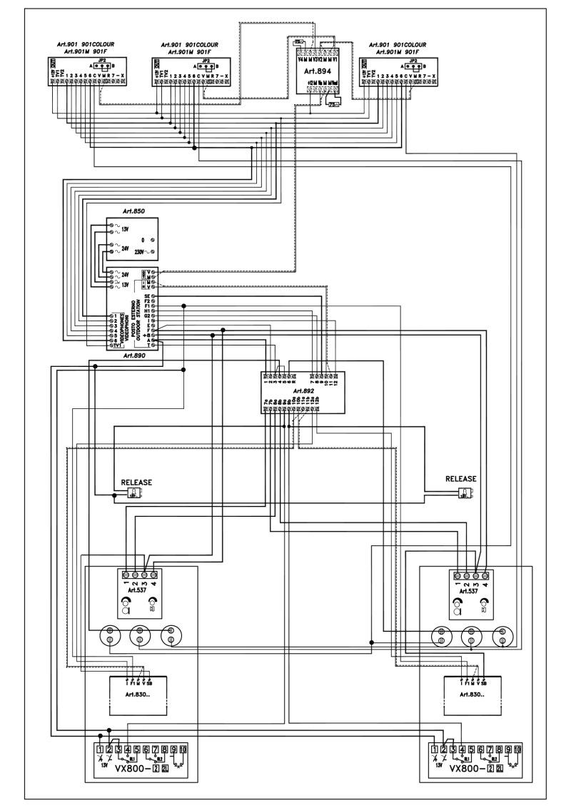 Videx Video Basic Wiring Diagrams