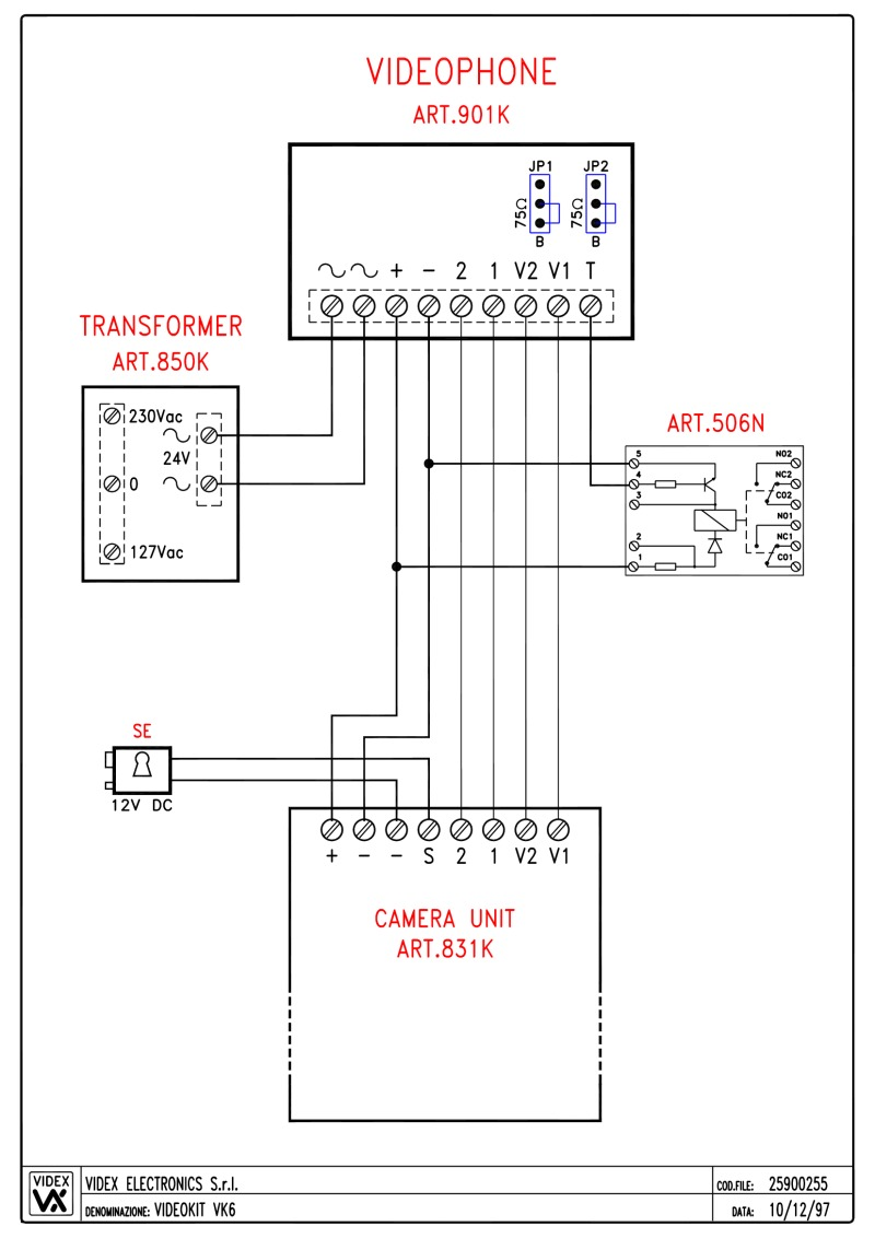 videx kit wiring diagrams on