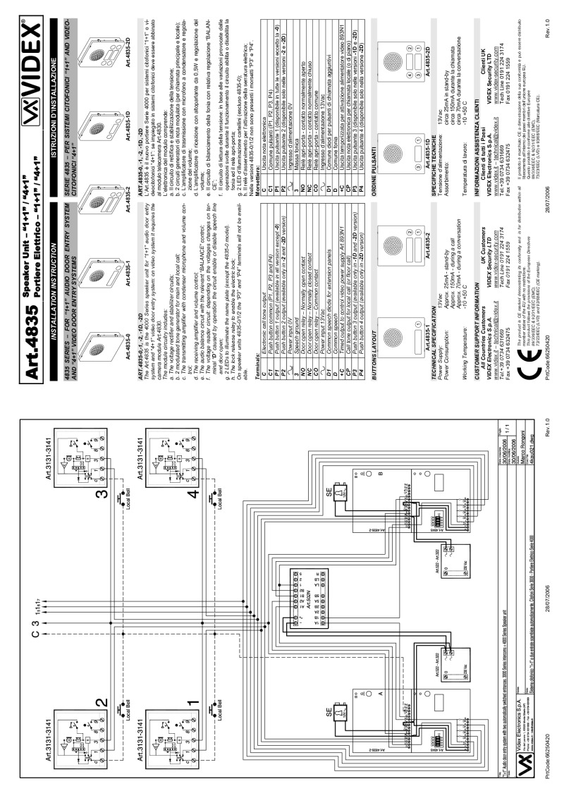 Videx installation instructions videx 4835 audio modules 1n installation guide asfbconference2016 Image collections