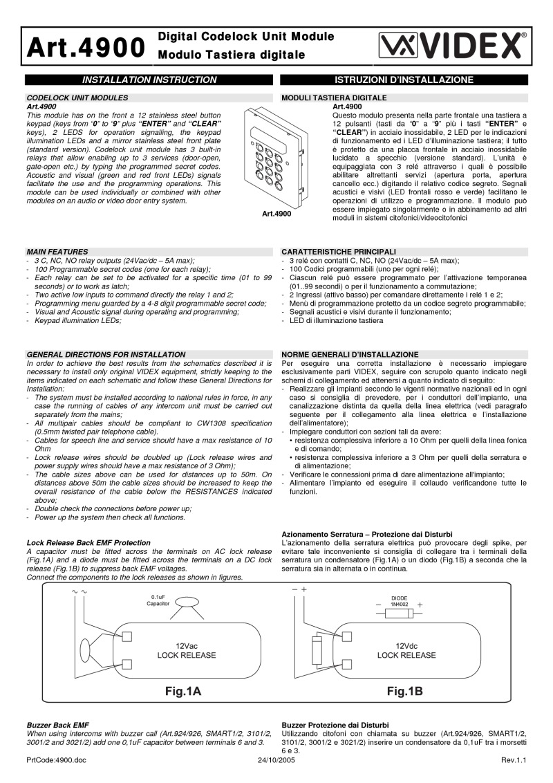 4900 videx installation instructions videx 3101 wiring diagram at bakdesigns.co