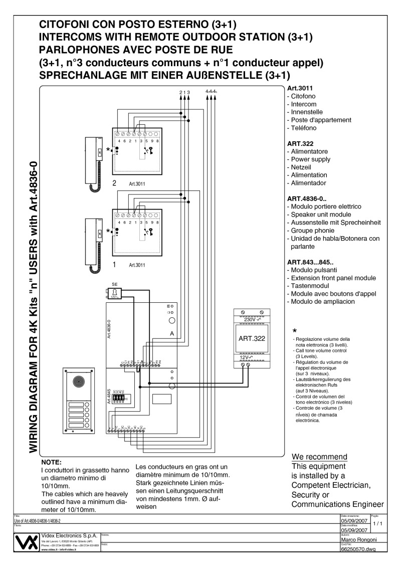 4K x videx installation instructions videx 3101 wiring diagram at bakdesigns.co
