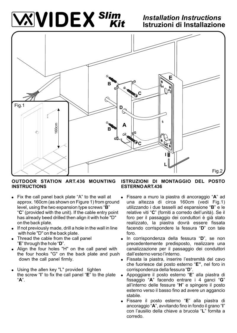 Videx installation instructions videx installation instruction for v slk audio kit asfbconference2016 Images