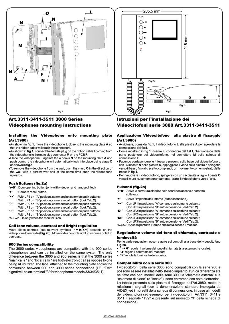 Videx installation instructions videx 3311 video monitor installation guide cheapraybanclubmaster Images