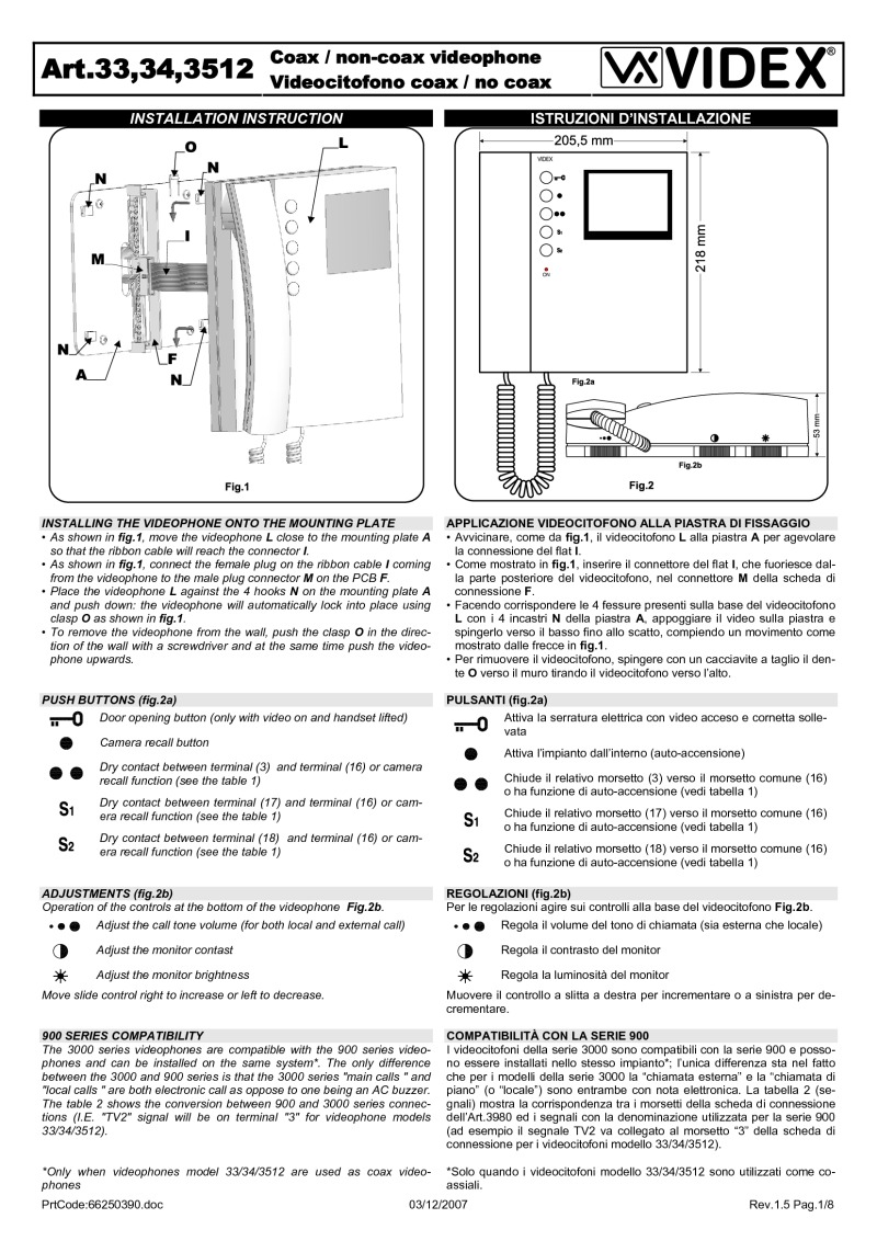 3312 videx installation instructions Basic Electrical Wiring Diagrams at edmiracle.co