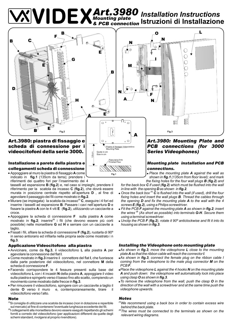 Videx installation instructions videx 3980 wall bracket for 3000 series video monitors cheapraybanclubmaster Image collections